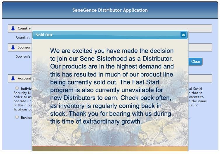 SeneGence-Distributor-Out-Of-Stock