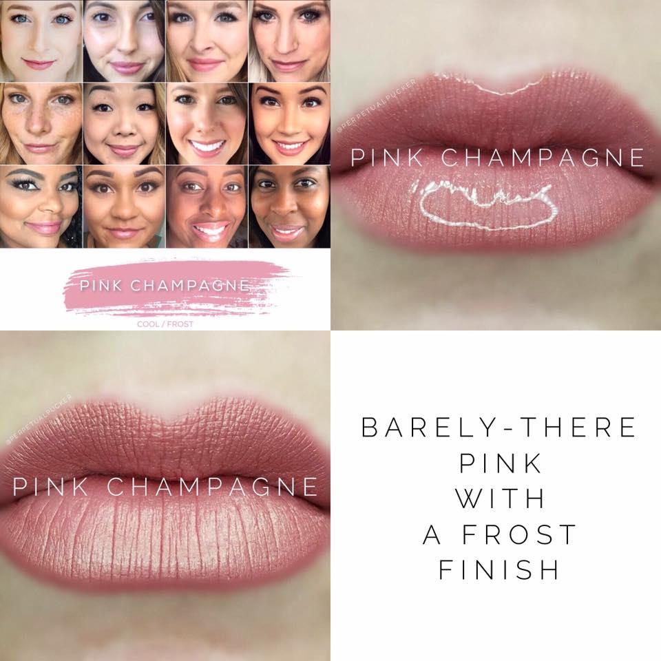 Pink Champagne LipSense 2 looks