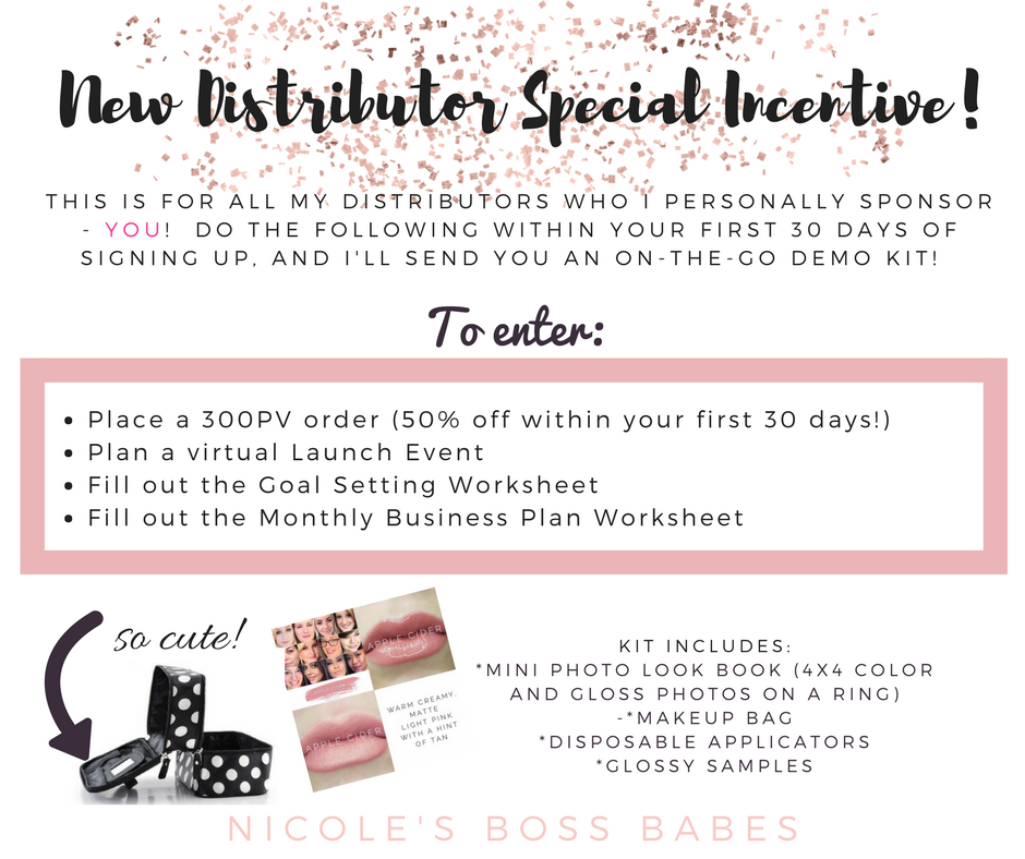 New Distributor Special Incentive!